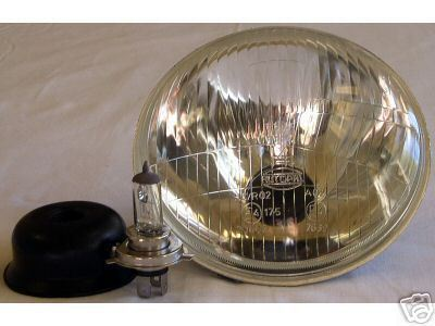 "7"" Convex Motorcycle Headlight: Harley Honda Yamaha"